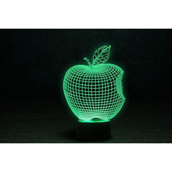 3D Нічник зі світлодіодною панеллю «Apple»