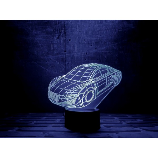 3D Нічник зі світлодіодною панеллю «Автомобіль»