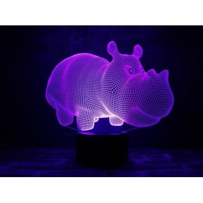 3D Нічник зі світлодіодною панеллю «Бегемот»