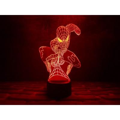 3D Нічник зі світлодіодною панеллю «Людина-павук»