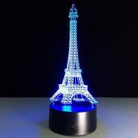 3D Нічник зі світлодіодною панеллю «Ейфелева башня»