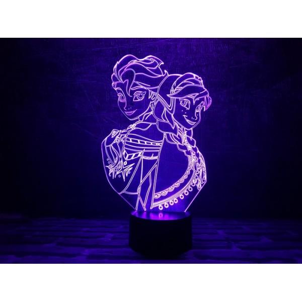 3D Нічник зі світлодіодною панеллю «Холодне серце»