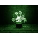 3D Нічник зі світлодіодною панеллю «Краб»
