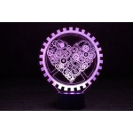 3D Нічник зі світлодіодною панеллю «Механічне серце»