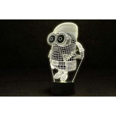 3D Нічник зі світлодіодним панеллю «Міньйон військовий»