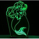 3D Нічник зі світлодіодною панеллю «Русалочка»