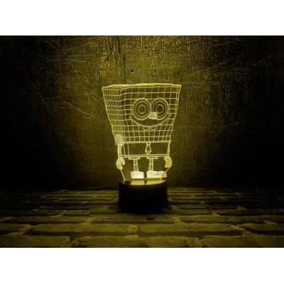 3D Нічник зі світлодіодною панеллю «Спанч Боб»