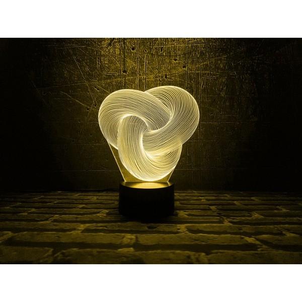 3D Нічник зі світлодіодною панеллю «Уроборос»