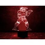 3D світильник Черепашка ніндзя 2