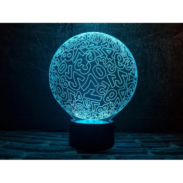 3D світильник Цифри