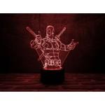 3D світильник Дедпул 3