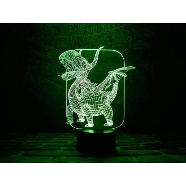 3D світильник Дракоша