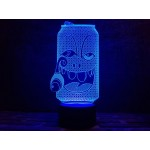3D світильник Крейзі Бір