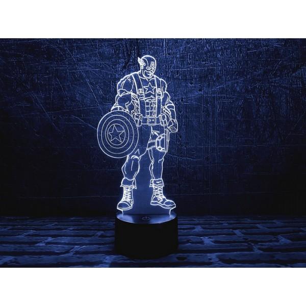 3D світильник Капітан Америка 1