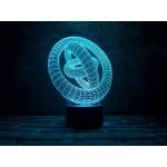 3D світильник Кільця