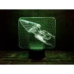 3D світильник Космічний корабль 4