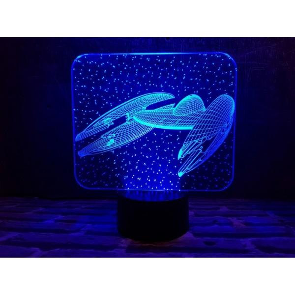 3D світильник Космічний корабль 5