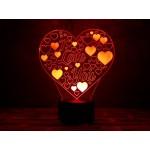 3D світильник Люблю тебе