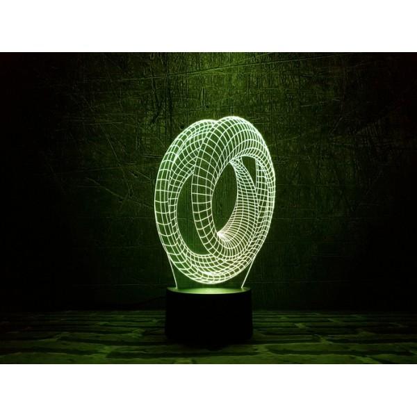 3D світильник Мебіуса 3