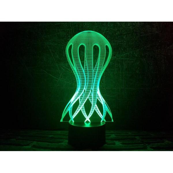 3D світильник Медуза