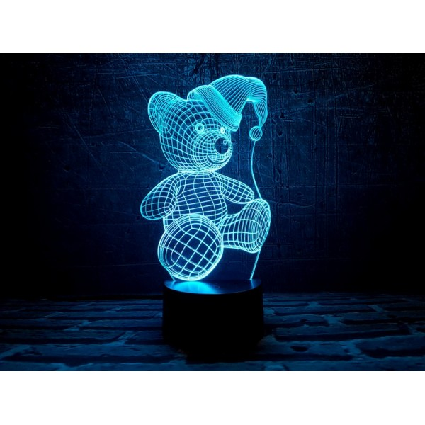 3D світильник Новорічний медведик
