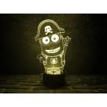 3D світильник Міньон Пірат