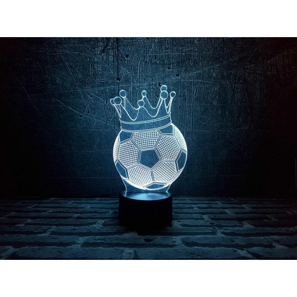 3D світильник Футбольний м'яч з короною