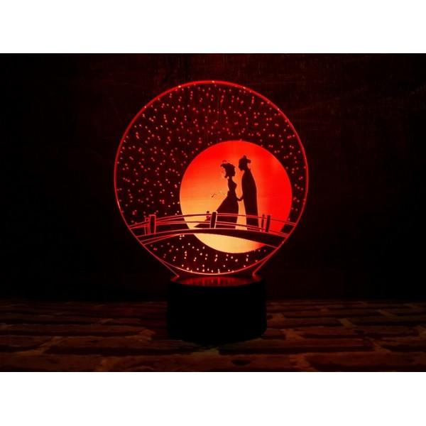 3D світильник Міст закоханих