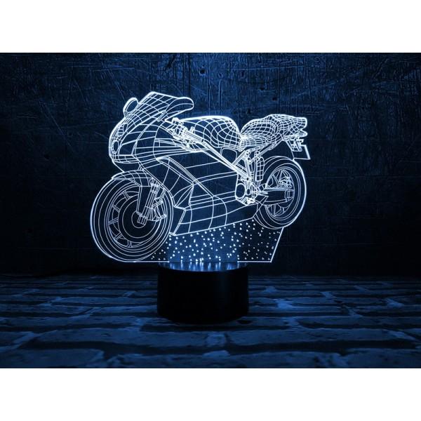 3D світильник Мотоцикл 2