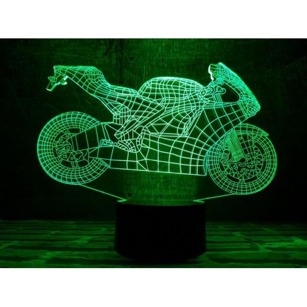 3D світильник Мотоцикл 4