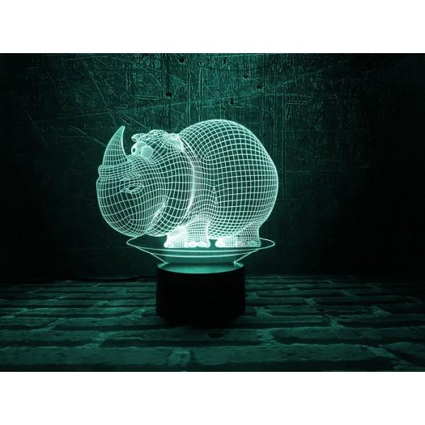 3D світильник Носоріг