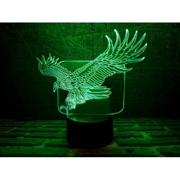 3D світильник Орел в польоті