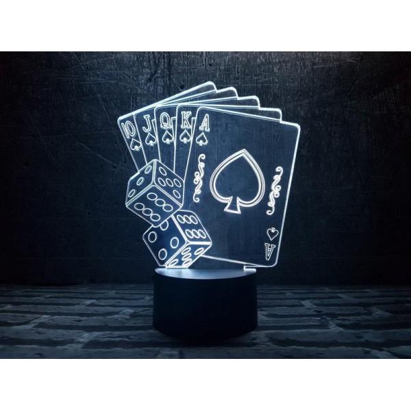 3D світильник Покер