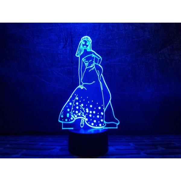 3D світильник Попелюшка