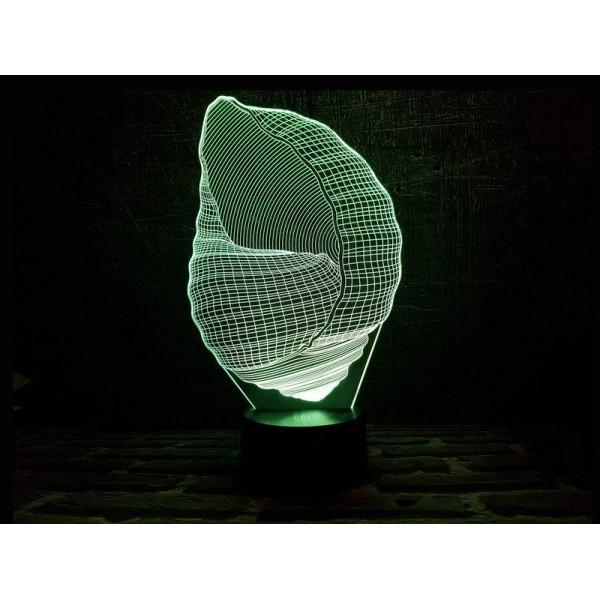 3D світильник Ракушка