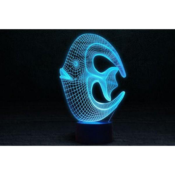 3D світильник Кораллова рибка