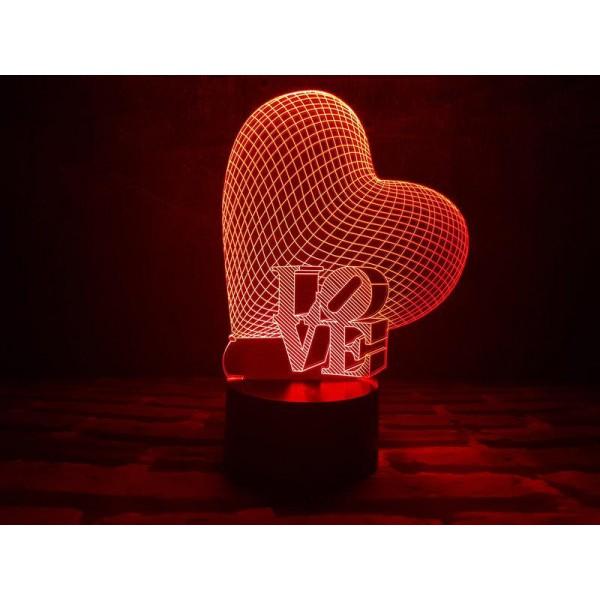 3D світильник Серце LOVE