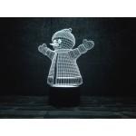 3D світильник Сніговик