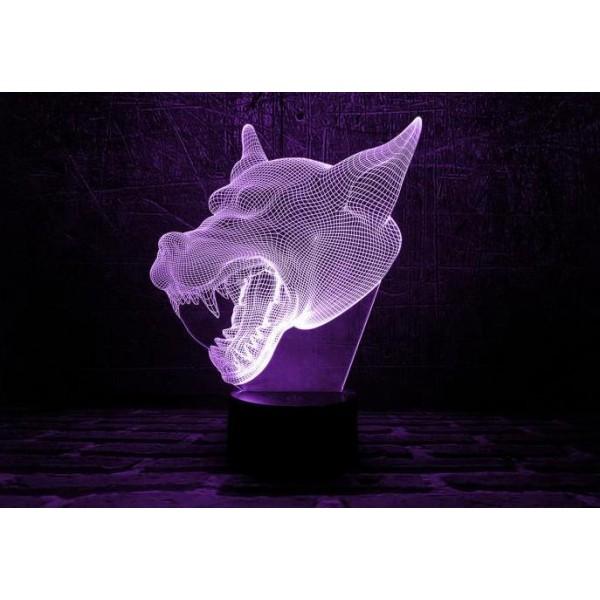 3D світильник Собака