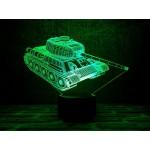 3D світильник Танк