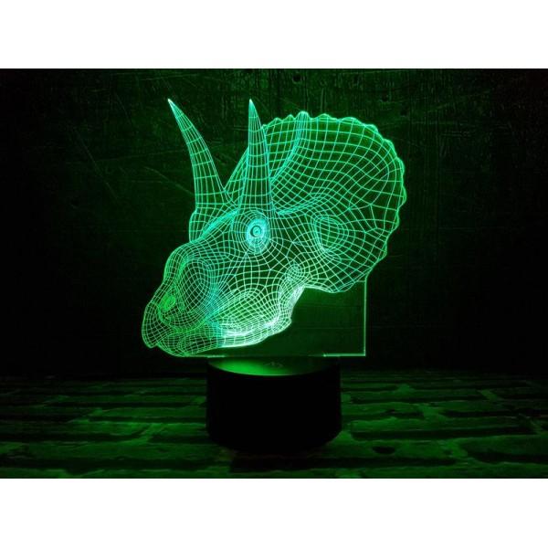 3D світильник Трицераптор