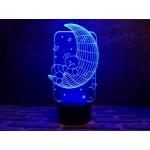 3D світильник Ведмедик на місяці