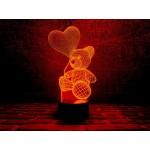 3D світильник Ведмедик з шаріком