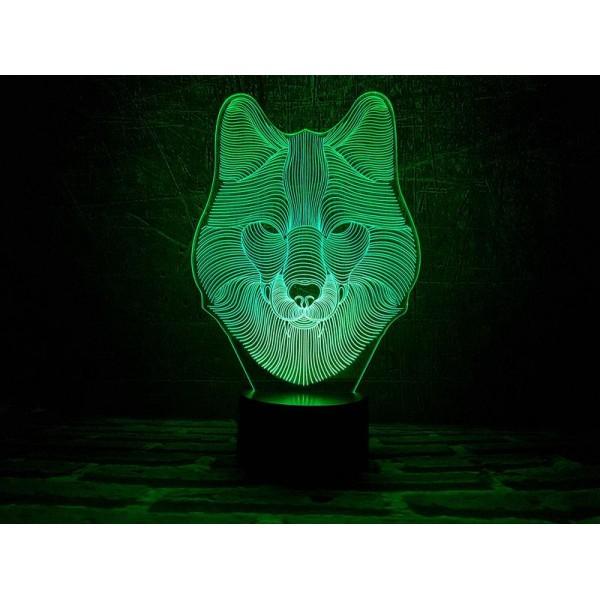 3D світильник Вовк