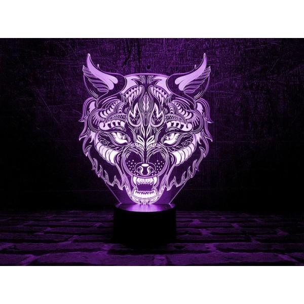 3D світильник Вовк 2