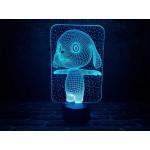 3D світильник Зайка