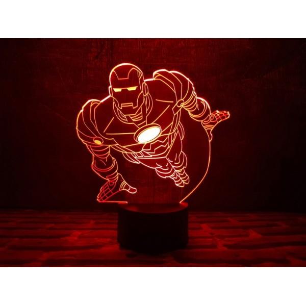 3D світильник Залізна людина 2