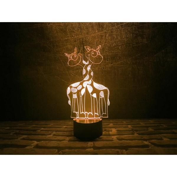 3D світильник Закохані жирафи