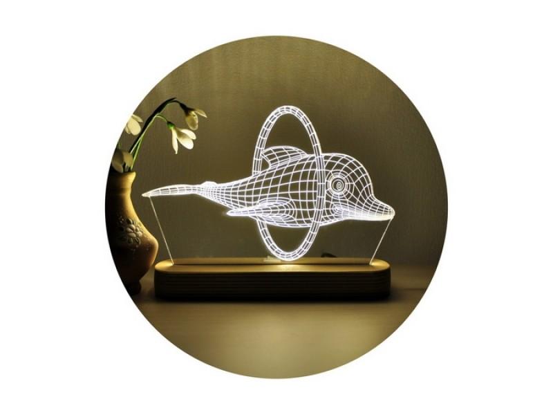 3D нічник «Дельфін»