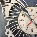 Дизайнерський настінний годинник Метелик